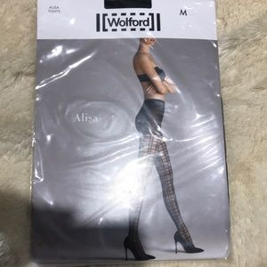 Wolford Alisa Striped Tights Size Med Never Worn